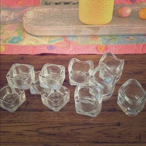 10 Piece glass decoration set of candle holders